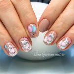 Овечки на ногтях — красивая коллекция
