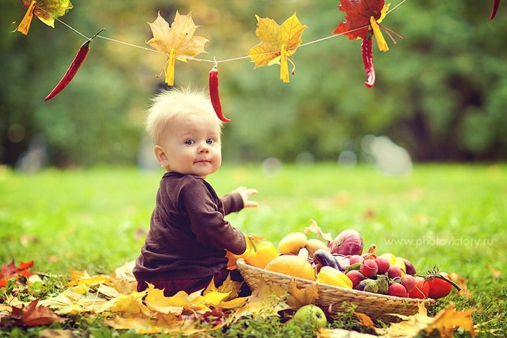 Осенняя фотография ребенка 001