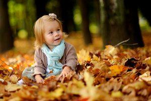 Осенняя фотография ребенка 028