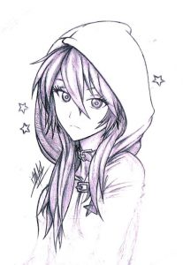 Рисунки аниме в цвете 025