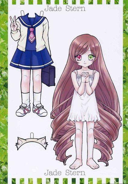 Рисунки аниме куклы 024
