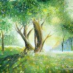 Рисунки красками пейзаж природы — коллекция