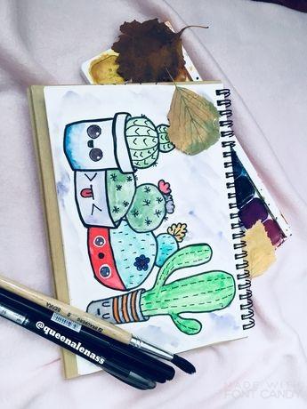Рисунки осень для скетчбука 001