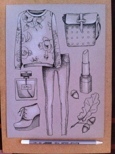 Рисунки осень для скетчбука 003