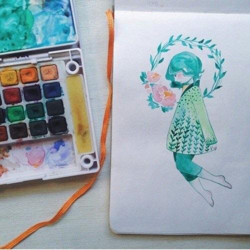 Рисунки осень для скетчбука 009