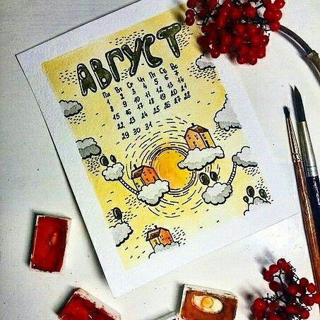 Рисунки осень для скетчбука 012