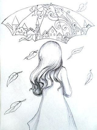 Рисунки осень для скетчбука 013