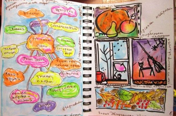 Рисунки осень для скетчбука 014