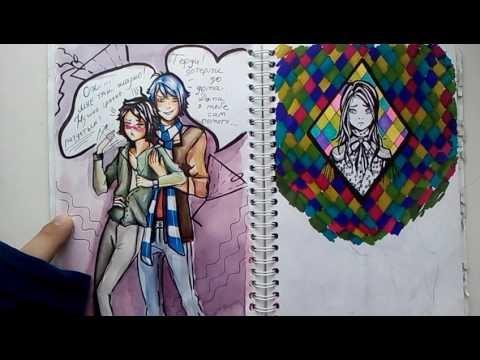 Рисунки осень для скетчбука 017