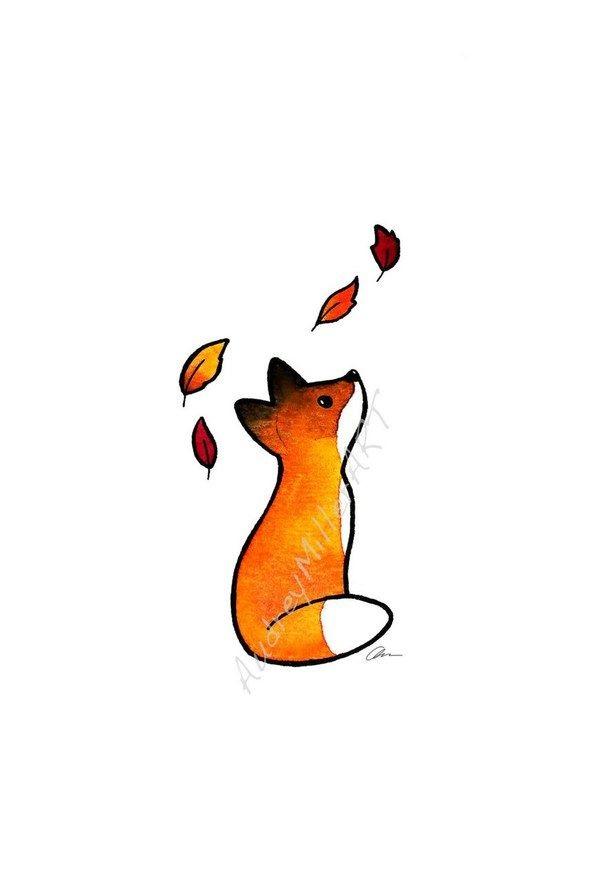 Рисунки осень для скетчбука 023