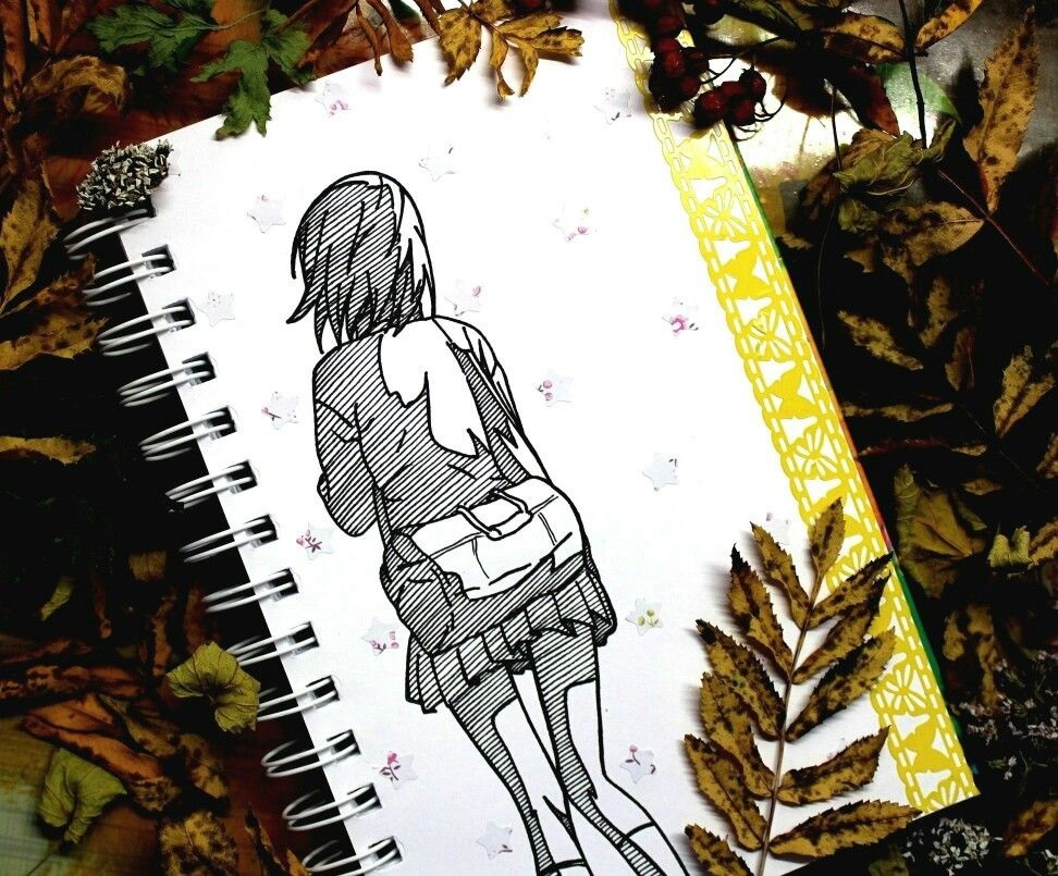Рисунки осень для скетчбука 024