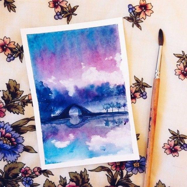 Рисунки осень для скетчбука 025