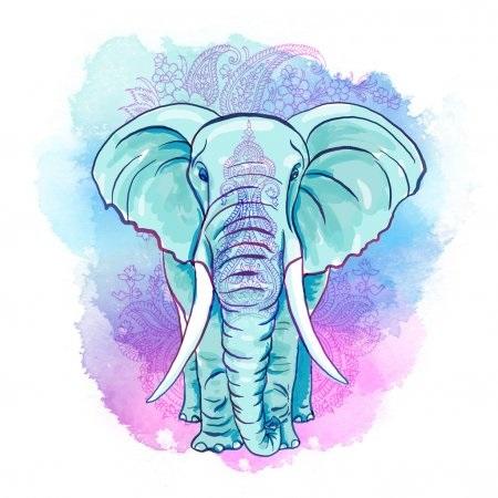 Рисунки слоников 028