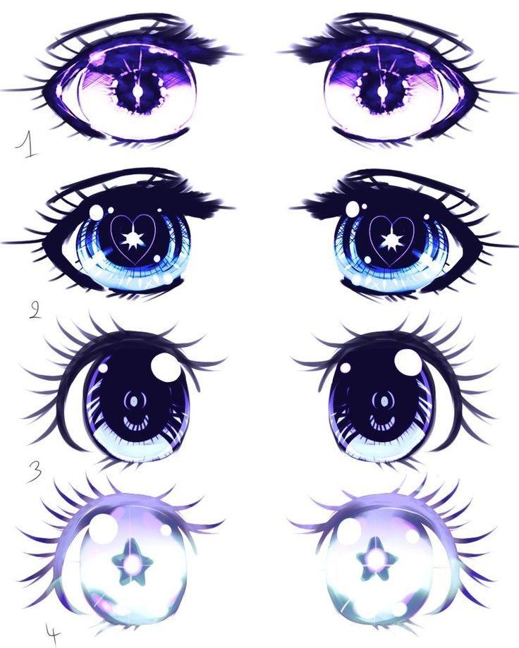 Скетчи аниме глаза 007