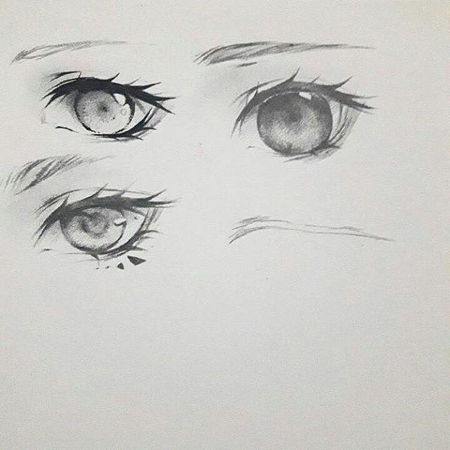 Скетчи аниме глаза 009