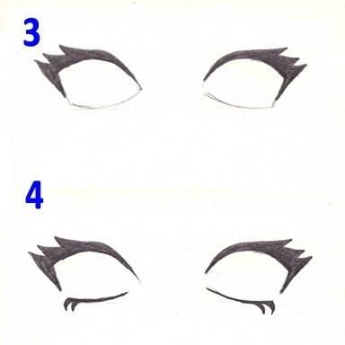 Скетчи аниме глаза 022