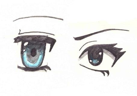 Скетчи аниме глаза 028