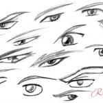 Скетчи аниме глаза — скачать бесплатно
