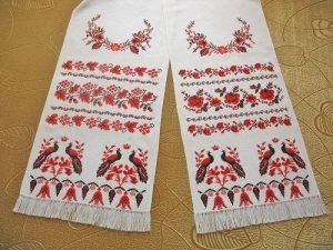 Схема вышивки крестом свадебный рушник 030