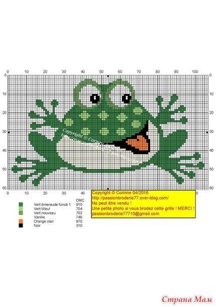 Схема лягушка вышивка 002