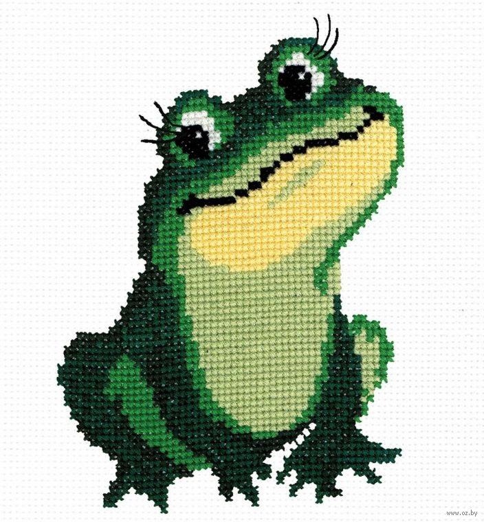 Схема лягушка вышивка 003