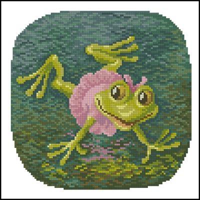 Схема лягушка вышивка 011