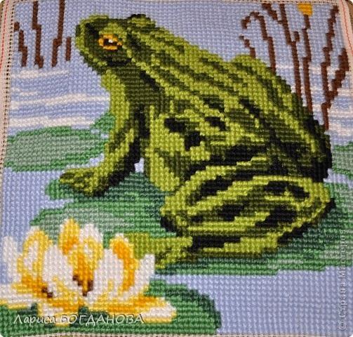 Схема лягушка вышивка 015