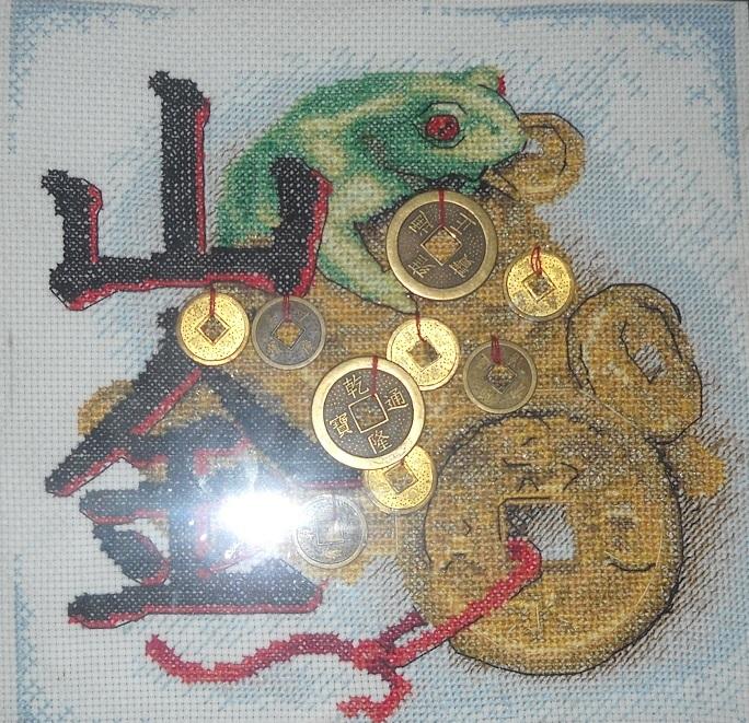 Схема лягушка вышивка 016