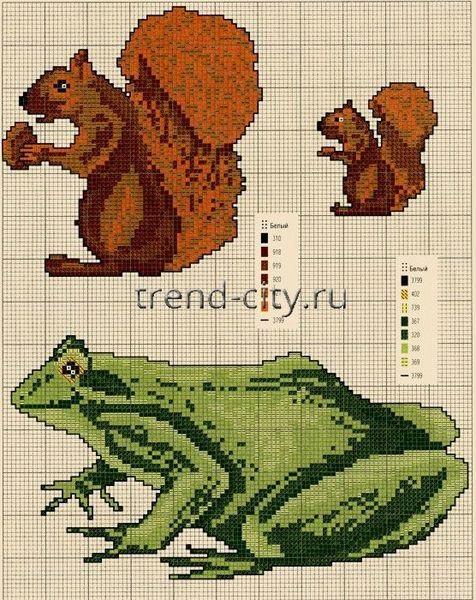 Схема лягушка вышивка 018