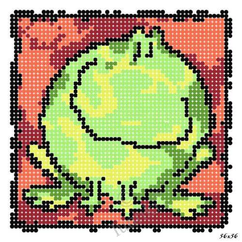 Схема лягушка вышивка 019