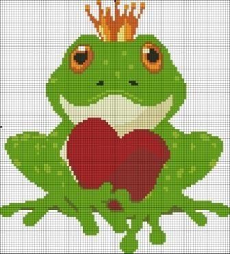 Схема лягушка вышивка 025