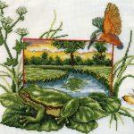 Схема лягушка вышивка — коллекция