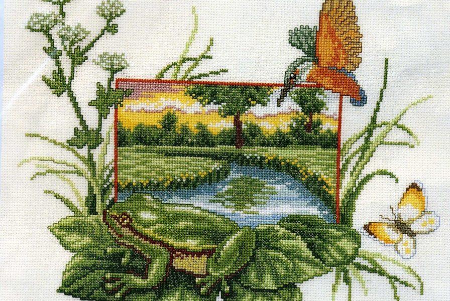 Схема лягушка вышивка 028