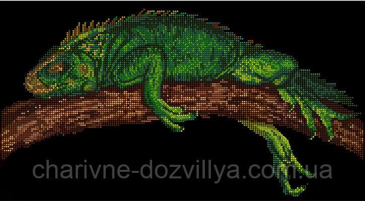 Схема ящерица вышивка 006