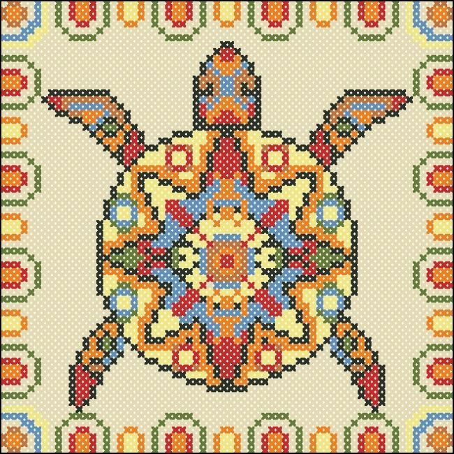 Схема ящерица вышивка 008
