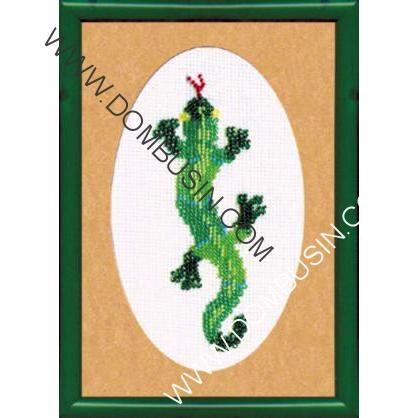 Схема ящерица вышивка 012