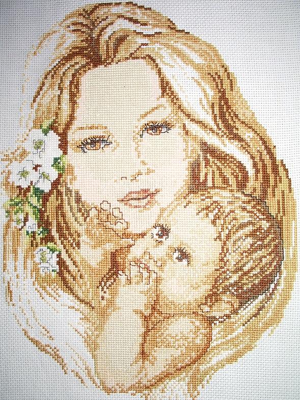Схемы вышивки мать и дитя 003
