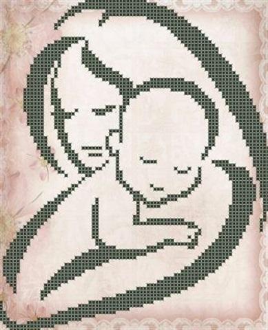 Схемы вышивки мать и дитя 007