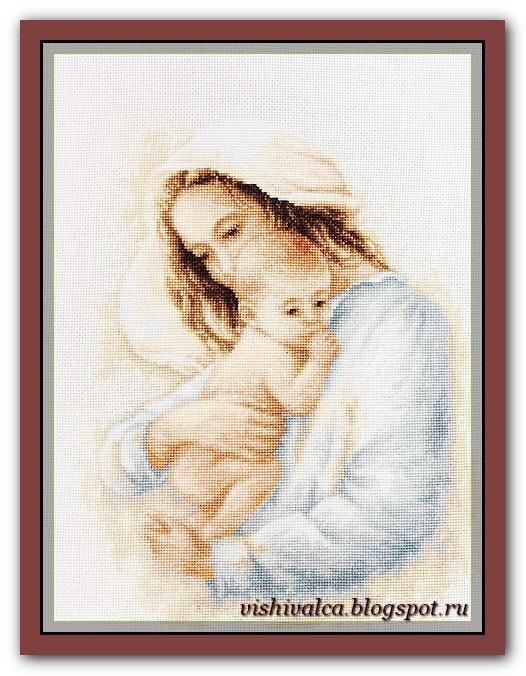 Схемы вышивки мать и дитя 008