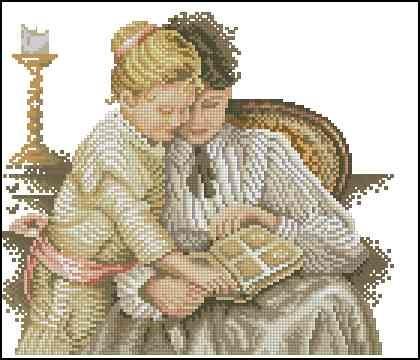 Схемы вышивки мать и дитя 009