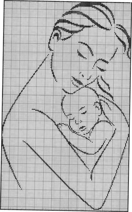 Схемы вышивки мать и дитя 013