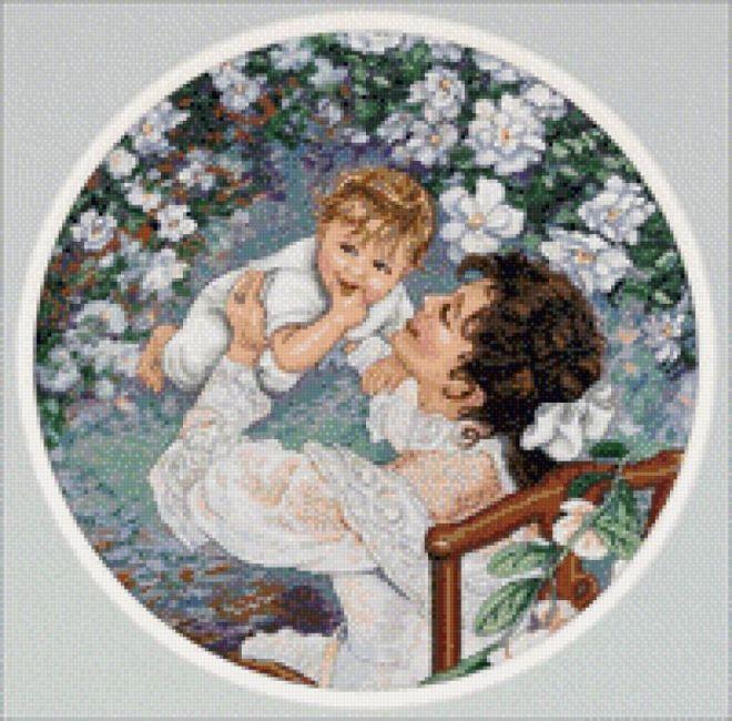 Схемы вышивки мать и дитя 015