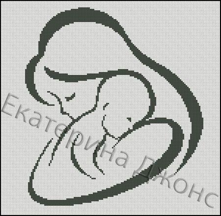 Схемы вышивки мать и дитя 016