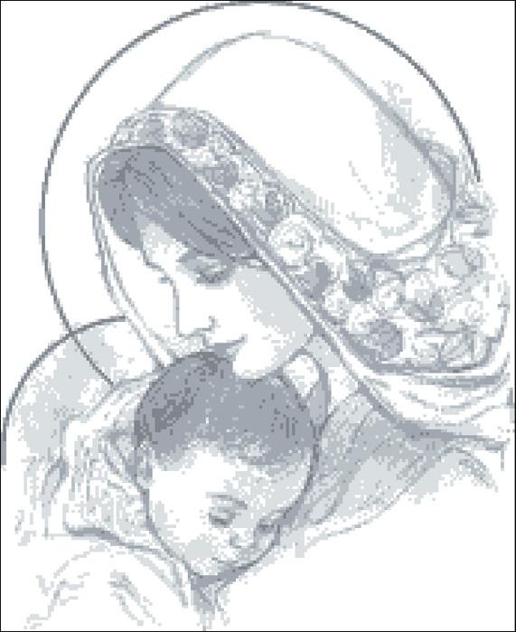 Схемы вышивки мать и дитя 018
