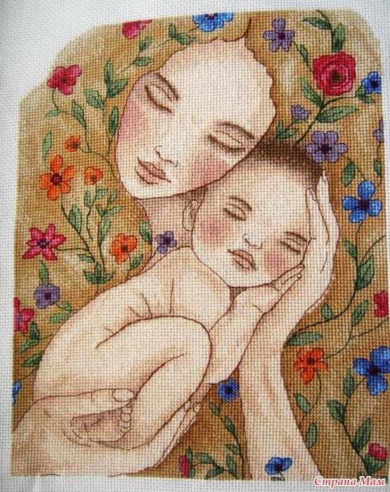 Схемы вышивки мать и дитя 019