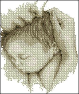 Схемы вышивки мать и дитя 021