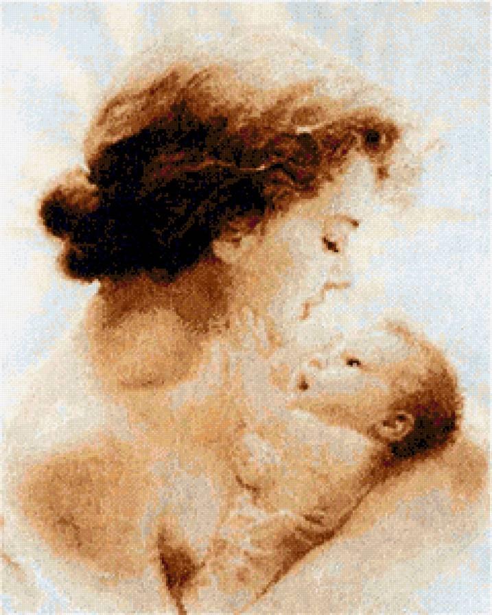 Схемы вышивки мать и дитя 023