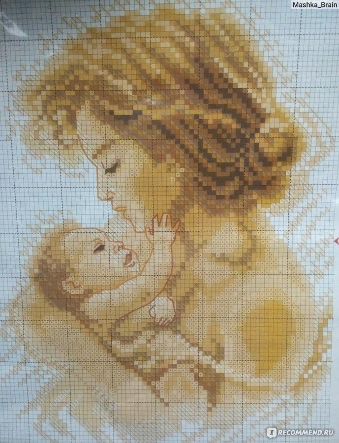 Схемы вышивки мать и дитя 025