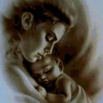 Схемы вышивки мать и дитя — подборка