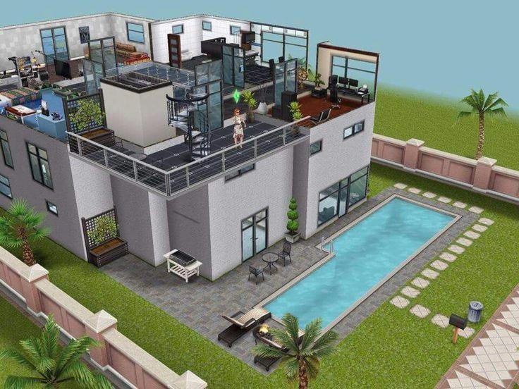 Схемы домов в симс фриплей 006